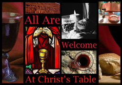 Worship, all are welcome at Christ's Table